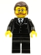 Lego Brand Store Male, Black Suit - Victor