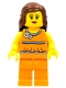 Lego Brand Store Female, Orange Halter Top - Sunrise
