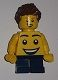 Lego Brand Store Boy, Large Smiley Face Torso, Short Legs (no back printing) - Lego Store at KidsFest