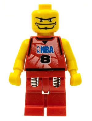 LEGO Detailed Listing for NBA Player, Number 8 without Hair nba046 $1.50