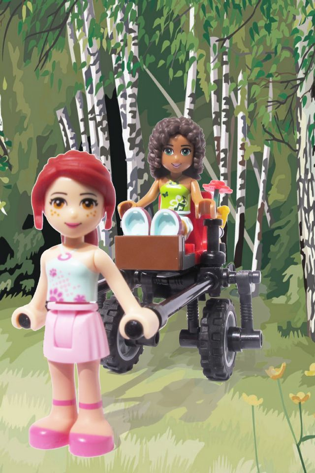 Friends Pull Cart
