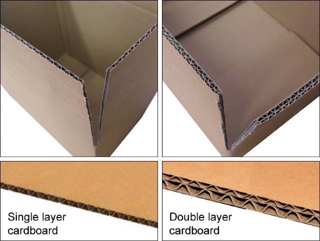 Single and double layer shipping boxes